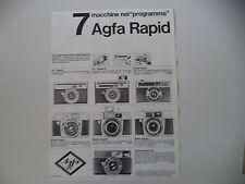 advertising Pubblicità 1965 AGFA ISO RAPID