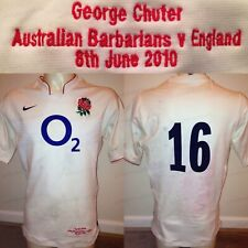 George Chuter MATCH WORN 2010 England Rugby Union Home Shirt v Barbarians *COA*