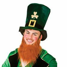 5//10//15 Green Velvet Hat with Beard Irish Shamrock St Patricks Day Ireland Eire