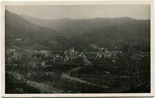 1930 Torre Pellice Valle panorama città tetti monti vallata Baar FP B/N VG