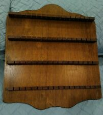 Vintage Beautiful Decorative Wooden 64 Spoon Collector Wall Rack Display Holder