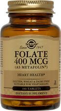 Solgar Folate 400mcg as Metafolin 100 Tablets