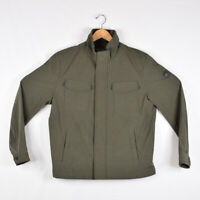 Men's Michael Kors Polyester Shell Jacket Zipper Button Olive Green - Size L
