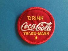 Vintage 1960's Drink Coca Cola Coke Soda Iron On Hat Jacket Vest Patches Crests
