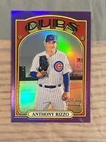 2021 Topps Heritage ANTHONY RIZZO Chrome Purple Refractor Cubs #175