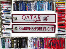 QATAR AIRWAYS Remove Before Flight tag keychain for Pilots - UK - Aviadirect®
