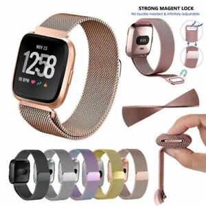 Milanese Stainless Steel Metal Strap Band For Fitbit Versa 2/ Versa Lite/ Versa