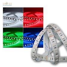 (11,94€/m) 5m LED Banda de luz 80 SMD/ m RGB, 450lm/ m, 12V, 7,6W/ Tira