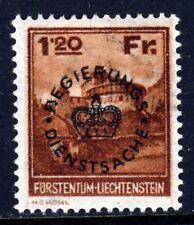 Liechtenstein 1930 sobreimpresa Regierungs dienstsache 1fr20 Marrón SG O127 Como Nuevo