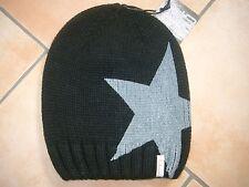 (M69) Grobstrick Mütze FREAKY HEADS Beanie Wintermütze Big Star Druck & Aufnäher