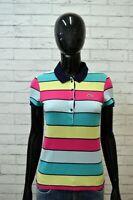 LACOSTE Size 38 XS Maglia Polo Donna Manica Corta Camicia Shirt Damenhemd Cotone