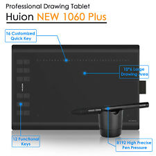 Art Graphic Drawing Tablet 8192 Level Huion Upgrade New 1060Plus 12 Express Key