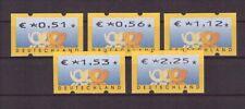 Bund, ATM 4.1 VS2 komplett, Versandstellensatz, postfrisch, ohne Zählnummer