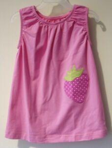BN ~ Kelly's Kids Brianna Pink Strawberry Applique Dress Size 4-5