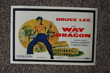 Way of the Dragon Lobby Card Movie Poster Bruce Lee
