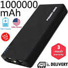 1000000mAh Backup External Battery Power Bank Pack Charger for Cell Phone 4 USB