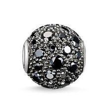 Genuine THOMAS SABO Silver Karma Black Cubic Zirconia Pave Bead K0109 £89.00