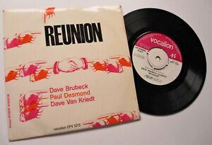 DAVE BRUBECK,PAUL DESMOND,DAVE VAN KRIEDT REUNION  1960's  EP  VOCALION RECORDS