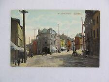 Vintage Postcard  St John Street Quebec Canada City Building