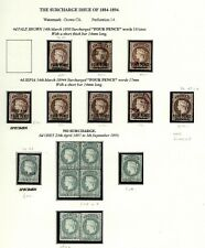 St Helena 1884-94 Issue SG43,43c,44 Selection p14 MM & Used SG Cat £662.00
