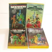Tales of the Galactic Midway Mike Resnick Vintage Sci-Fi Paperback Books x 4