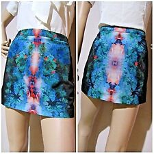T by BETTINA LIANO size 10 mirror print stretch mini SKIRT excellent condition