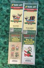 Woodworking Patterns, Set of 4 Christmas Elves & Mice Elves, Yard Art new uncut
