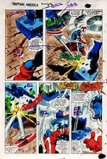 1981 Gene Colan Captain America Annual 5 page 43 Marvel Comics color guide art