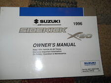 1996 SUZUKI SIDEKICK X-90 X90 Factory Owners Operators Owner Manual OEM