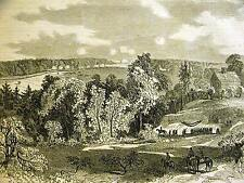 GRANT JERICHO FORD NORTH ANA VIRGINIA  1864 Civil War Antique Engraving Matted
