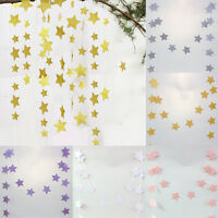 Glitter Star Hanging Garland Sparkly Bunting Banner String Birthday Home Decor