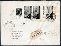 1956 - Raccomandata da Trieste - Affrancatura mista AMG-FTT/Repubblica