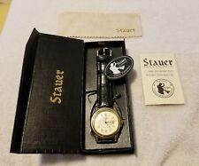 Stauer Men's Metropolitan Gold Tone Watch w/Black Leather Strap (New)
