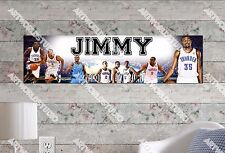 Personalized/Customized OKC Thunder Name Poster Wall Art Decoration Banner