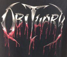 Obituary Vtg Men's XL Death Metal Band Tshirt Tee Florida 20 Years Dead Frozen