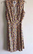 2d47614601 Hilo Hattie Floral Dress Sleeveless Wrap Rayon Pineapples Women s 4 New NWOT