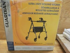 "Medline Freedom Lightweight Folding Aluminum Mobility Rollator Walker with 6"""