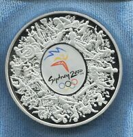 2000 1kg Coloured Silver $30 Sydney Olympic Coin Wooden in display Case