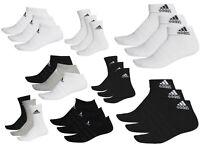 Adidas Socks Cushioned Men Women Unisex Cotton Crew Low Ankle Black White Grey