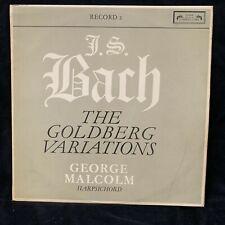 BACH Goldberg Variations (record 2) - GEORGE MALCOLM - L'Oiseau-Lyre ST LP