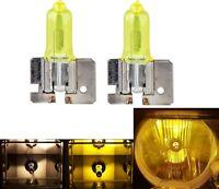 Halogen H2 55W 3000K Yellow Two Bulbs Fog Light Replacement Lamp Plug Play Rally