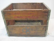 OLD WOOD-WOODEN GENERAL CINEMA BEVERAGE CRATE BOX ADVERTISING