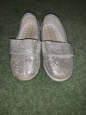 Sparkley Silver Air Walkers Girls Shoes Size 7