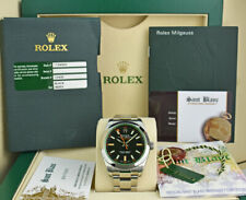 ROLEX Mens 40mm Stainless Steel MILGAUSS Black Index Dial 116400 GV SANT BLANC