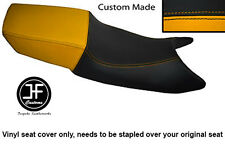 BLACK AND YELLOW VINYL CUSTOM FITS HONDA CBR 600 F 87-90 DUAL SEAT COVER ONLY