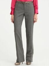 Banana Republic Martin Fit Grey Stripe Melange Flannel Trouser UK14