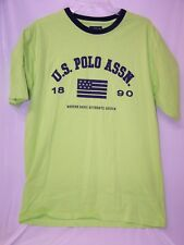 """US Polo Assn Men's t-shirts """"Modern Basic Authentic Design"""" Lime Green Large"""