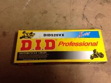 D.I.D 520VX X-ring 104 Link Professional Motorcycle Chain NEW