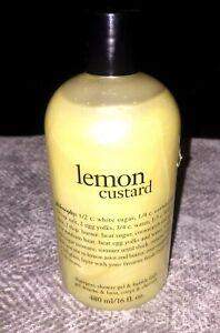Philisophy Lemon Custard Shampoo Shower Gel Bubble Bath 16 Fl Oz New Sealed