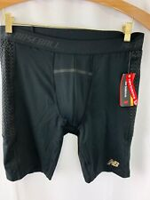 New Mens New Balance Baseball Sliding Shorts With Cup Sixe Xl Black